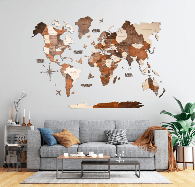 Wooden Map