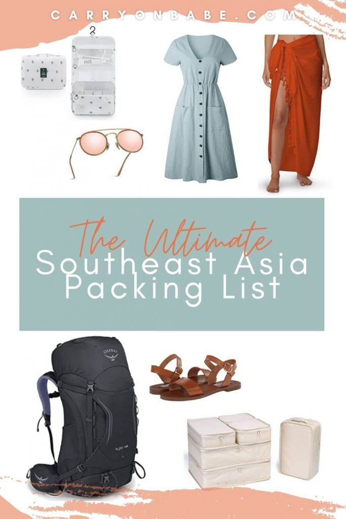 southeast asia packing list female