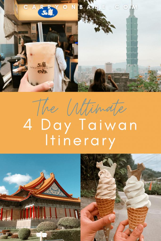 taiwan 4 day itinerary