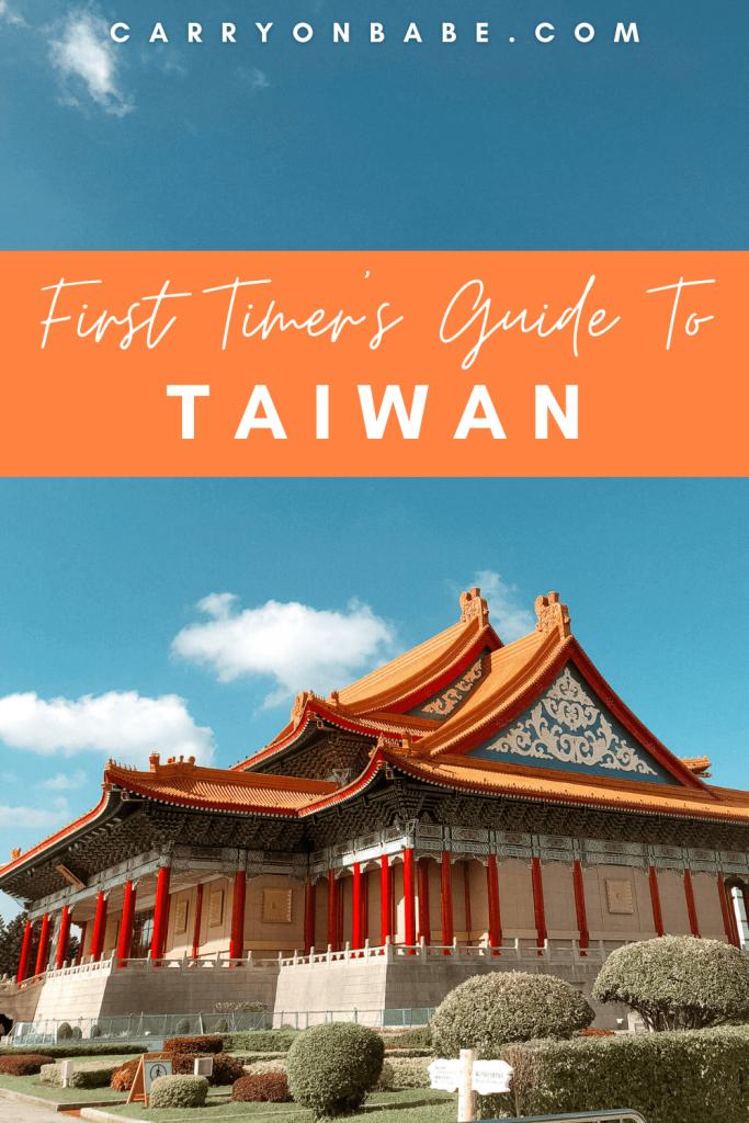 taiwan itinerary 4 days